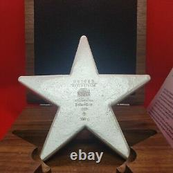 1/2 Kilo Geiger Star With Wood Case Display And Coa 500grams. 999