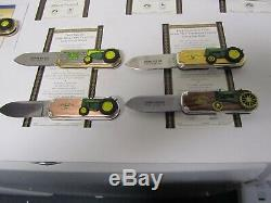12 Diff Franklin Mint John Deere Collector Knives With 2 Display Cases 10 COAs