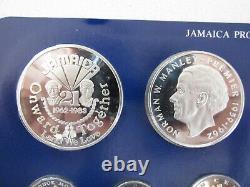 1983 Jamaica Proof Set withDisplay Case and COA's