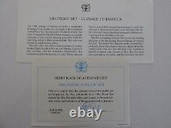 1984 Jamaica Proof Set withDisplay Case and COA's