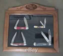 1991 Case XX 9 DOT 4 Knife Set in Mint Walnut/Glass Display COA 1 of 500 HTF