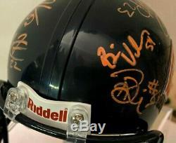 2010 CHICAGO BEARS Team Autographed Signed Mini Helmet withDisplay Case & AAA COA
