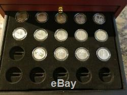 2010 National Parks PDS Quarters with Wood Display Case 54 Quarters with COA