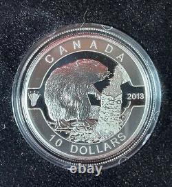 2013 O Canada $10.9999 Fine Silver 12 Coin Set with COA & display case