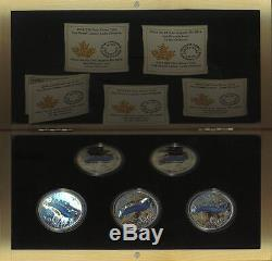 2014 RCM $20 Fine Silver 5 Coin Set The Great Lakes COAs Display Case Ontario
