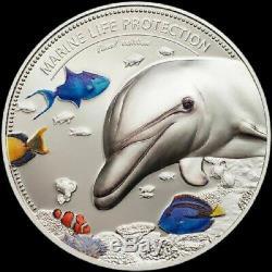 2017 Palau 2-Coin Silver $10 Marine Life Protection Proof Set Display Case & COA