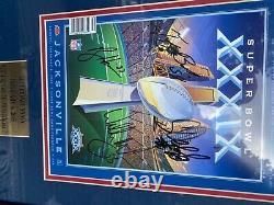 24x36 tom brady auto framed superbowl program tristar coa