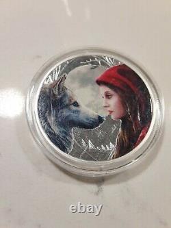 (6) 1 Oz Silver Lisa Parker Series COMPLETE SET Colorized + COAs & Display Case