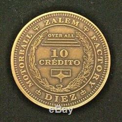 Alita Battle Angel 10 credit credito coin Screen Used COA RARE with display case