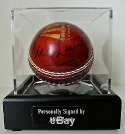 Allan Lamb Signed Autograph Cricket Ball Display Case England Ashes & COA