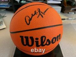 Allen Iverson Autographed Mini Basketball withGorgeous Display Case -withGoldin COA