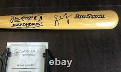 Andruw Jones Signed Rawlings Pro Ring Baseball Bat with COA & Clear Display Case