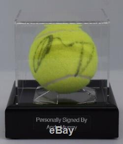Andy Murray Signed Autograph Tennis Ball Display Case Wimbledon AFTAL COA
