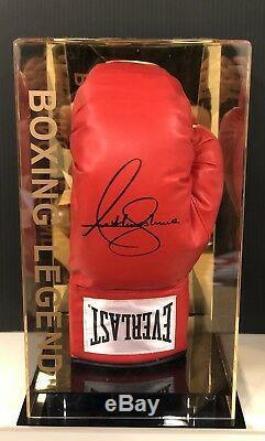 Anthony Joshua Signed Boxing Glove Display Case AJ BXNG World Champion AFTAL COA