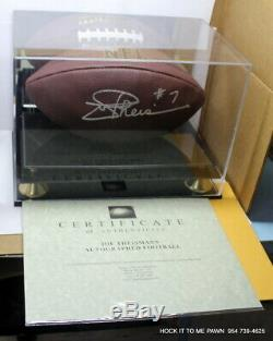 Autographed Joe Theismann Football Theisman notre Dame Coa Proof with Display Case
