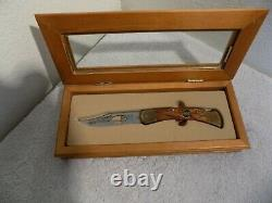 BUCK LIMITED EDITION 1963 LOGO LASER CUT BLADE WithDISPLAY CASE, COA, PAPERS
