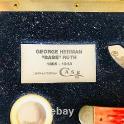 Babe Ruth Limited Edition Case Knife With Display Case and COA