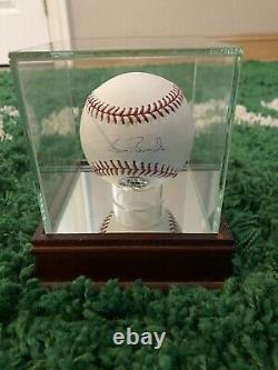 Barry Bonds Signed Baseball PSA COA Wood/Glass Display Case Included