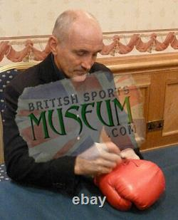 Barry McGuigan Hand Signed Boxing Glove Display Acrylic Case AFTAL COA