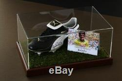 Bebeto Signed Football Boot Display Case Brazil Autograph Memorabilia COA