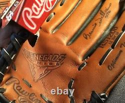 Bernie Williams Signed Rawlings Baseball Glove Jsa Coa Ny Yankees Display Case