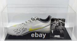 Billy Bonds Signed Autograph Football Boot Display Case West Ham Utd AFTAL COA