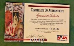 Bob Gibson Autographed PSA/DNA Authenticated Baseball withCard & Display Case COA