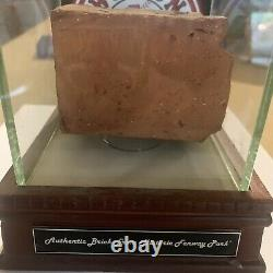 Boston Red Sox Authentic Brick From Fenway Park with Display Case COA Steiner