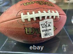Brett Favre 1997 Pro Bowl Game Issued Autographed Football and Display Case COA