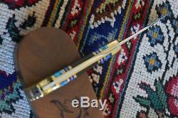 Buck 110 David Yellowhorse Kit Carson Knife Mint Coa & Walnut Display Box Case