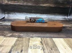 Buck 110 Yellowhorse Relic Sign Knife Mint With COA & Wood Display Case SN#049