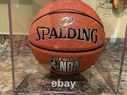 CARSON EDWARDS AUTOGRAPHED BASKETBALL HIT PARADE 73/100 COA/PSA WithDISPLAY CASE