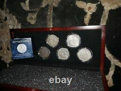 COMPLETE MORGAN DOLLAR MINT MARK SET IN DISPLAY CASE With COA