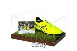 Cafu Signed Football Boot Display Case Brazil 2002 Autograph Memorabilia COA