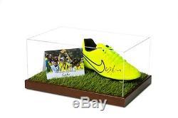 Cafu Signed Football Boot Display Case Brazil AC Milan Autograph Memorabilia COA