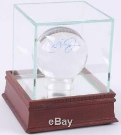 Cal Ripken Jr. Signed Lead Crystal Baseball with Display Case (PSA COA)