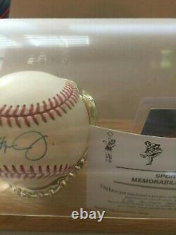 Cal Ripken Signed Baseball with COA and Display Case
