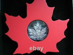 Canada 2015 silver proof $20 cased with COA 66 of 15000 & wooden display frame