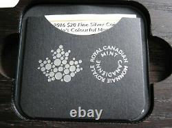 Canada 2016 silver proof $20 cased with COA 366 of 15000 & wooden display frame