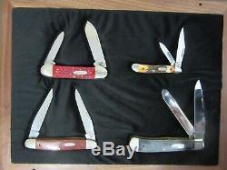 Case XX 1991 9 DOT 4 Knife Set in Mint Walnut/Glass Display COA 1 of 500 HTF