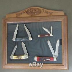 Case XX 1992 8 DOT 4 Knife Set in Mint Walnut/Glass Display COA 1 of 500 HTF