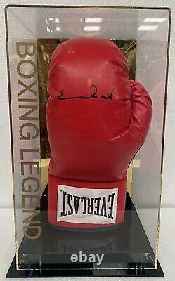 Chris Eubank Signed Boxing Glove with Display Case COA