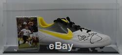 Colin Hendry Signed Autograph Football Boot Display Case Scotland AFTAL COA