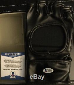 Conor Mcgregor Signed Glove In Display Case Beckett COA UFC MMA