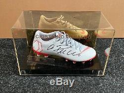 Cristiano Ronaldo Signed Football Boot Juventus Madrid Portugal Display Case COA