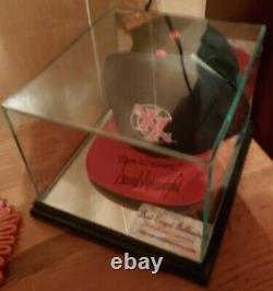 DONALD J TRUMP Hat signed Official Autograph CAP With COA & Glass Display Case