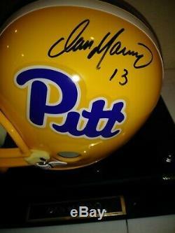Dan Marino Pittsburgh Pitt full size Helmet and display case, COA Miami Dolphins