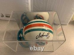 Dan Marino UD Authenticated Riddell Football AUTO Mini-Helmet COA + Display Case