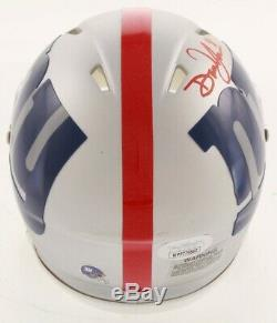 Daniel Jones Signed Giants AMP Alternate Speed Mini Helmet JSA COA Display Case