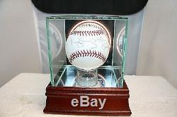 Daryl Strawberry/Keith Hernandez Autographed Baseball With COAs & Display Case